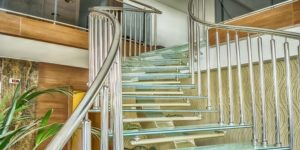 Balustrade en verre escalier